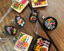Mini Sushi Necklaces and Rings!!