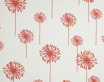 White And Coral Shower Curtain Hookless HBH49WAV01SL77 White with