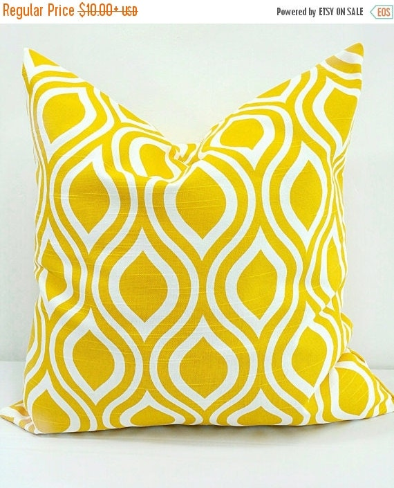 Sale Yellow Pillow Cover Nicole Pillow Cover Sham Pillow Case Select