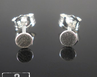 925 Sterling Silver Flat Pads Ear Posts Studs 3mm Pad and Butterfly Nuts, Solid Sterling Silver Flat Pads Earrings- Post Ear Studs Findings