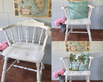 4 captain chairs painted shabby chic