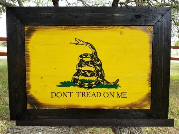 FRAMED*** Gadsden Flag