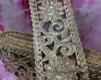 Designer Gold Sari Border / Trim