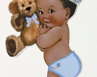 Centerpieces/Vintage Prince baby/ light blue