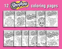 Instand DL -12 Shopkins Printable coloring pages - Digital File (NOT editable)