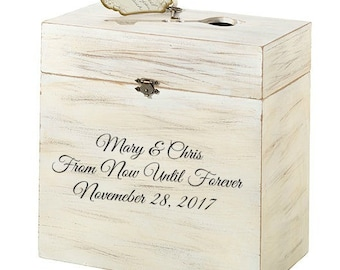 Personalized Wedding Reception Card Box Guest Wedding Guest Card Box Favor Box Vintage Charm Wedding Accessories
