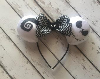 Jack Skellington ears, Nightmare before Christmas, halloween, costume, Disneyland, Disney World, mickey ears, mouse ears