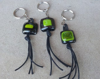 Keychains 1 unisex, keychains of glass, accessory, Keychain tones green, keychains original, keychains exclusive