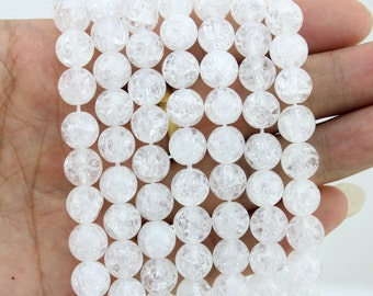 Frizzling crystal white Beads Genuine Natural Crystal bead,One Full Strand, stone Beads,Round beads,Gemstone Beads----15-16 inches--NF106