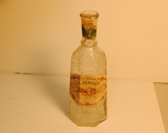 Antique Perraud et cie Lavander French Toilet Water Perfume Bottle