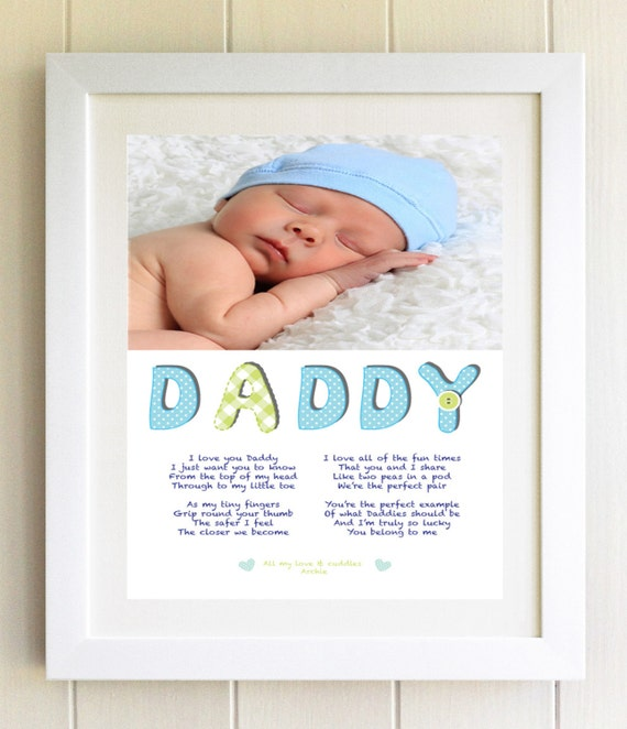 PERSONALISED Daddy Poem New Dad Gift Framed Photo Gift Dad
