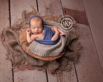 alpaca wrap/blanket and bonnet set!!! newborn photo prop