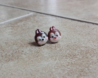 Chip and Dale Chipmunk Tsum Tsum Inspired Earrings