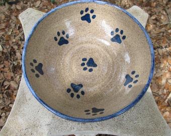 Paw Print Pet Food Dish