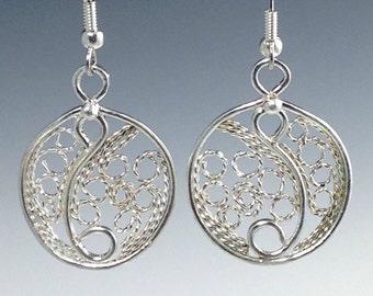 Circle Filigree Earrings