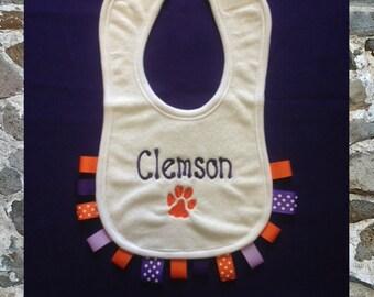 Clemson Tigers Baby Bib