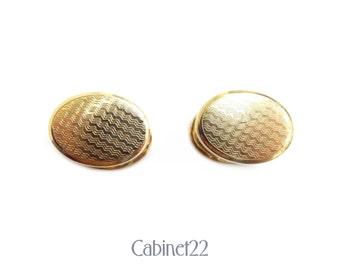 Vintage Art Deco gold-toned retractable cufflinks ~ Cabinet22
