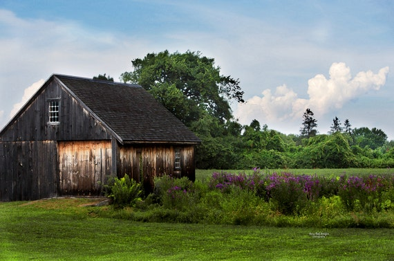 Sutton MA Cannon Building Rustic Summer Weathered original Photograph and Canvas
