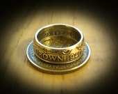 British Half Crown Coin Ring in .500 Silver - Custom Made In Your Size - Free Shipping!