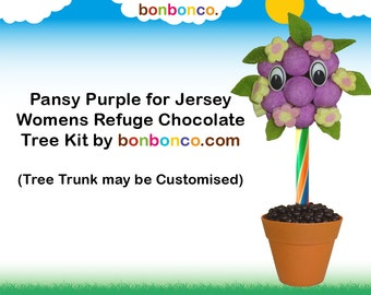 Chocolate, Purple Sweets and Chocolate Pips (Customisable) Kit by Bonbonco. Raising funds for JWR.