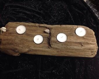 4 Candle Beach Driftwood Candleholder