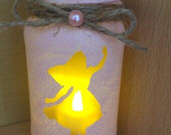 Alice in wonderland candle Jarlight pink lantern spa light candle holder pink handmade painted mermaid lights cute candle vintage love