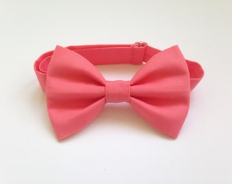 Coral Bow Tie - Children's Bow Ties - Bow Ties - Coral - Pink Bow Tie - Baby Bow Tie - Bow Tie for Baby - Bow Tie For Kids