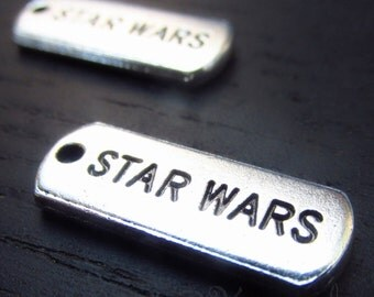 Star Wars Charms - 10/20/50 Wholesale Antiqued Silver Plated Pendants CC0626 - Exclusive Item!