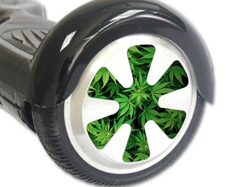 Skin Decal Wrap for Hoverboard Balance Board Scooter Wheels Weed