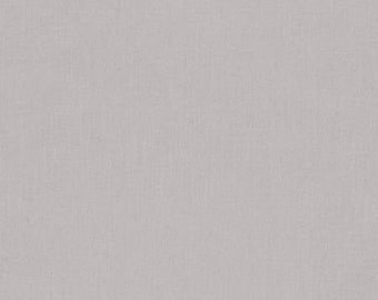 Kona Ash - Solid Fabric - Modern cotton fabric by the yard - Quilting Fabric - Grey Kona - Quilt Fabric - Solid Grey Gray Fabric