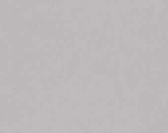 Kona Ash - Solid Fabric - Modern cotton fabric by the yard - Quilting Fabric - Sewing Fabric - Quilt Fabric - Solid Grey Gray Fabric