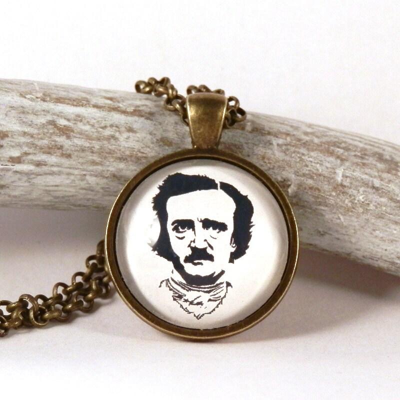 edgar allen poe pendant poe necklace