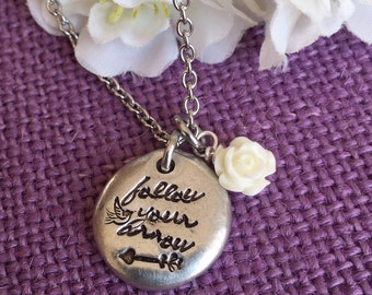 Graduation Gift - Follow your arrow Necklace  - Follow your arrow jewelry - Arrow - Motivation - Gift for graduation
