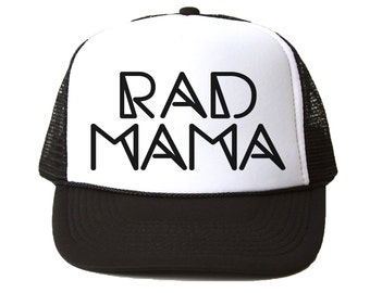 Rad Mama Trucker Hat - Youth and Adult, Trucker Hat, Kid's Hat, Matching Hats, Mommy and Me Hats, Summer Hat, Baby Hat