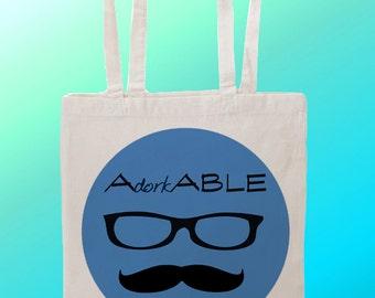 Adorkable Geek - Reuseable Shopping Canvas Tote Bag