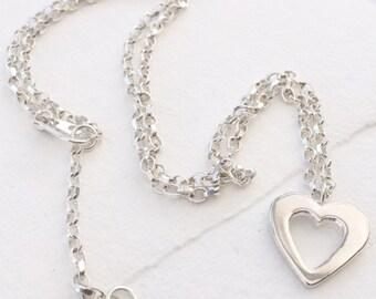 Open Heart Necklace