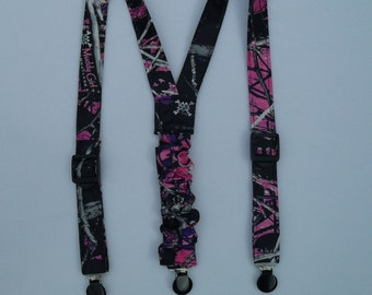 Camo Suspenders Available in 18 camo colors. Contact me for Men sizes