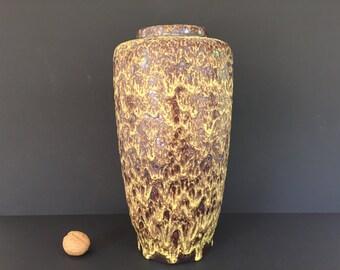 Steuler  156 / 30 Mid Century modern stylish yellow Fat Lava vase, height 30 cm. -  1960s / 1970s West Germany Pottery.  WGP.