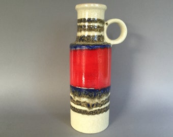 Scheurich  401 / 28 vintage  vase Mid Century Modernist West German Pottery  made in the 1970s