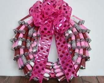 Shotgun Shell Wreath - PINK