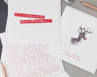 Pack Of Six Mixed Christmas Cards