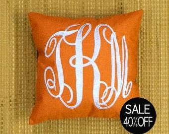 40%OFFMonogram Pillow Decorative Throw Pillow Personalized Custom Valentine Housewarming Dorm Decor Wedding Baby Birthday Gift All Sizes