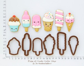 Ice Cream Mini Cookie Cutter Set (budget cutters)