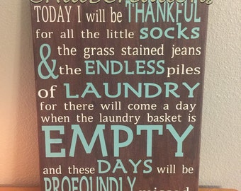 CustomQuote: Today I will be thankful for...laundry (11x14) Custom colors available