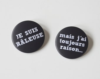 2 badges chalkboard school - french message