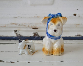 Vintage Ceramic Dog Figurine...Clearance Sale! Terrier Dog Figurine, Kitschy Decor, Nursery Decor