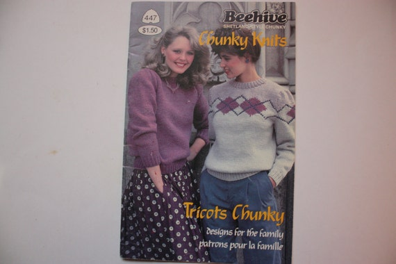Patons Beehive Knitting Book 447 - Family Sweaters - Argyle - Fair ...