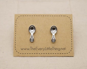 Le Petite Cuillere Earrings (non-allergic stainless steel stud)