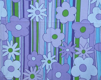 Vintage Roman Carnival Fabric Flower Power Pattern Cotton Imperial Screen Print 2+yds