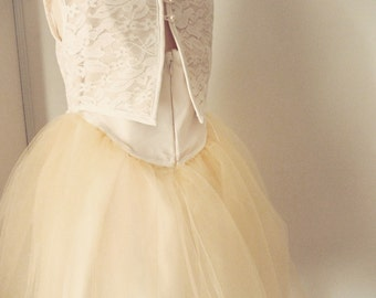 Flower Girl Dress - Lace and tulle